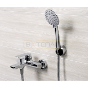Смеситель WasserKRAFT Lopau 3201 для ванны с коротким изливом, хром, 3201