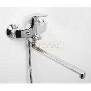 Смеситель WasserKRAFT Rossel 2802L для ванны с длинным поворотным изливом 350 мм, хром, 2802L