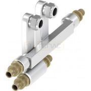 Двойной тройник TECEflex для подключения радиаторов 16 x 15 Cu x 16