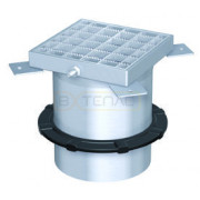 Надставной элемент для трапа BASIKA со свободолежащей рамкой 150х150