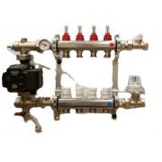 Смесительный узел для теплого пола с термостатическим насосом Askoll ES 25\60, С301AES